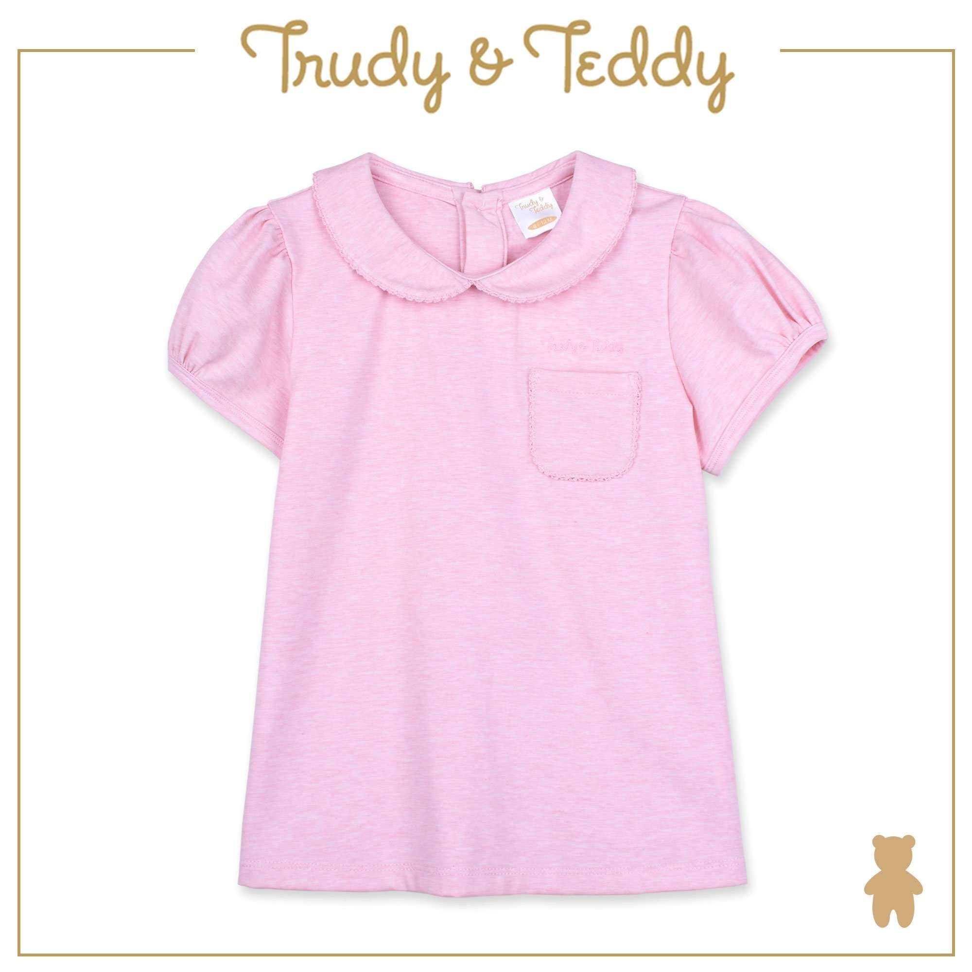 Trudy & Teddy Baby to Kid Girl Short Sleeve Blouse - Light Pink T914005-1202-P1 : Buy Trudy & Teddy online at CMG.MY