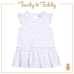 Trudy & Teddy Baby to Kid Girl Short Sleeve Dress With Hairband - White T914103-4808-W5 : Buy Trudy & Teddy online at CMG.MY