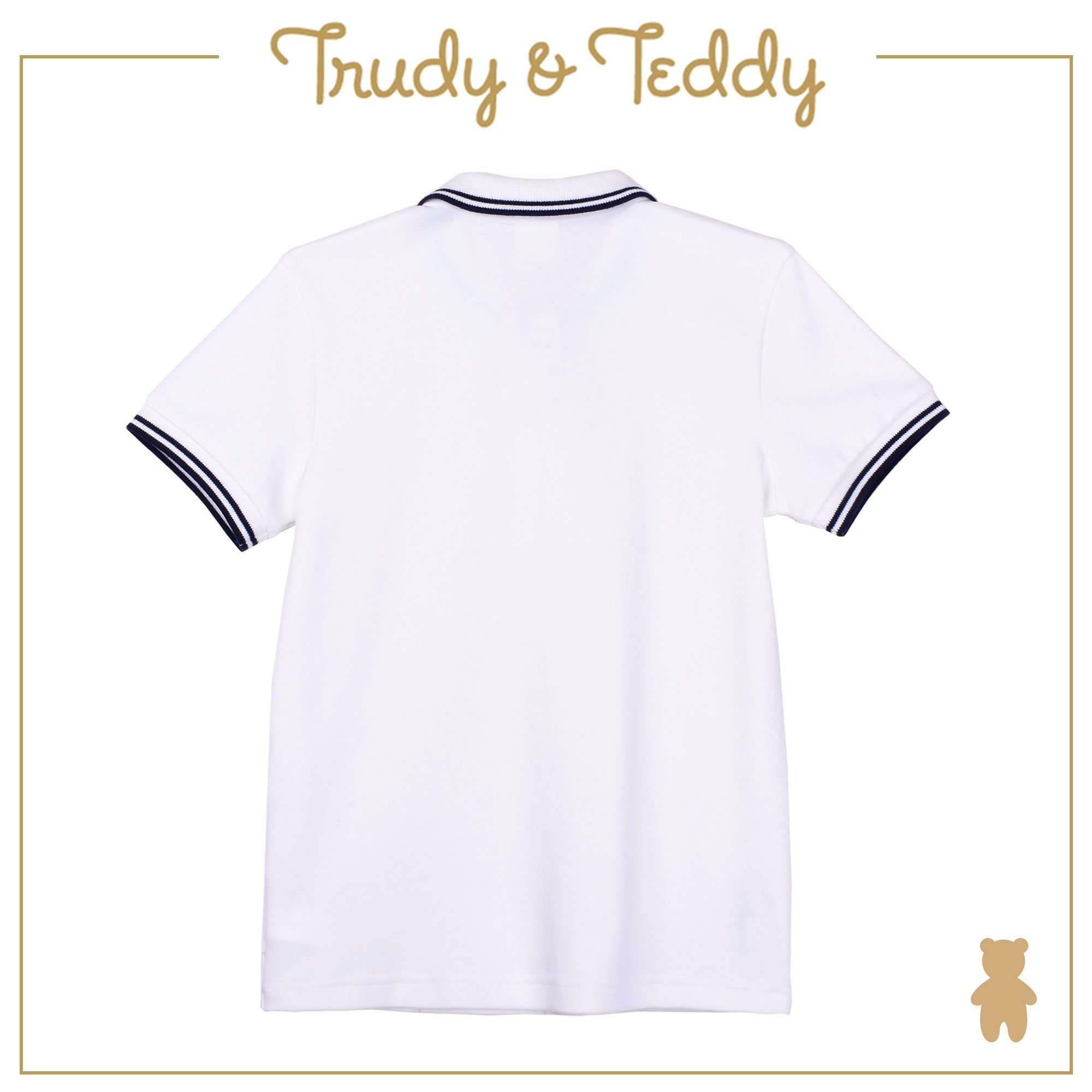 Trudy & Teddy Baby to Kid Boy Short Sleeve Collar Tee - White T921001-1210-W5 : Buy Trudy & Teddy online at CMG.MY
