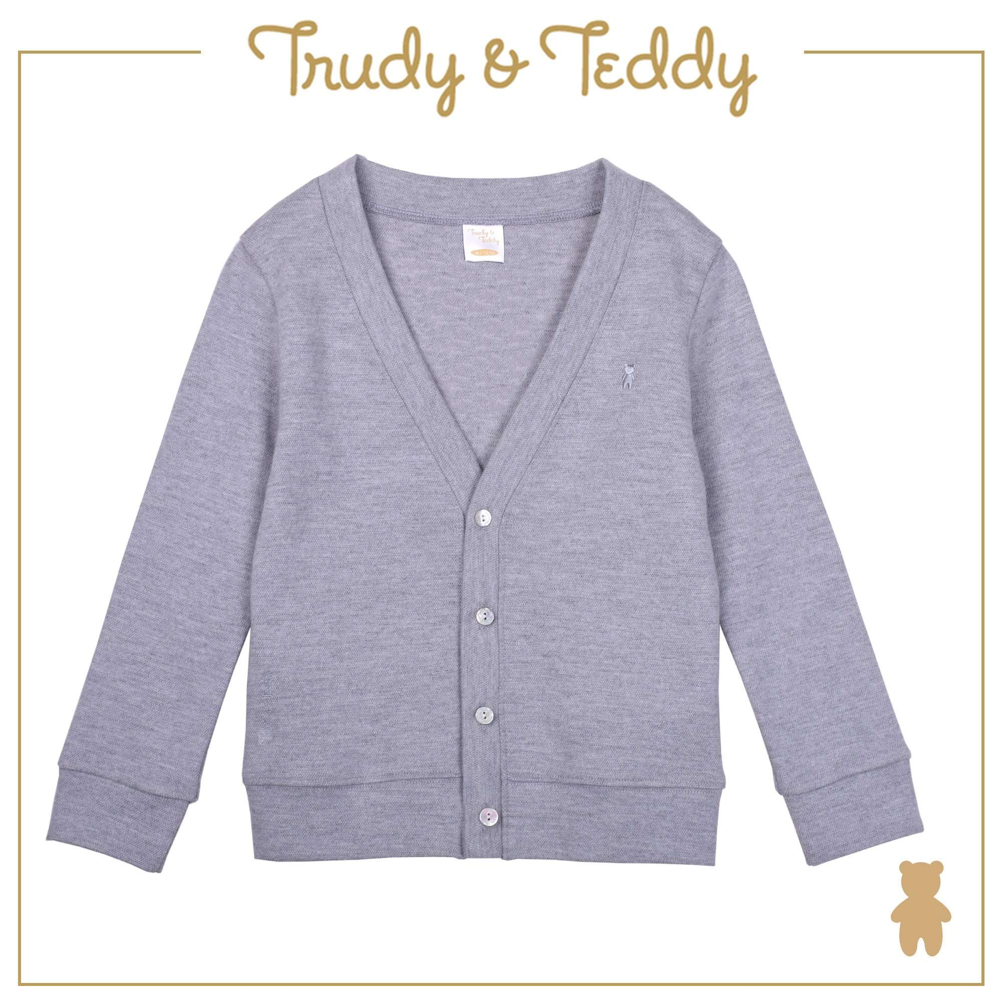 Trudy & Teddy Baby to Kid Boy Cardigan Blazer - Light Grey T922001-1613-G1 : Buy Trudy & Teddy online at CMG.MY