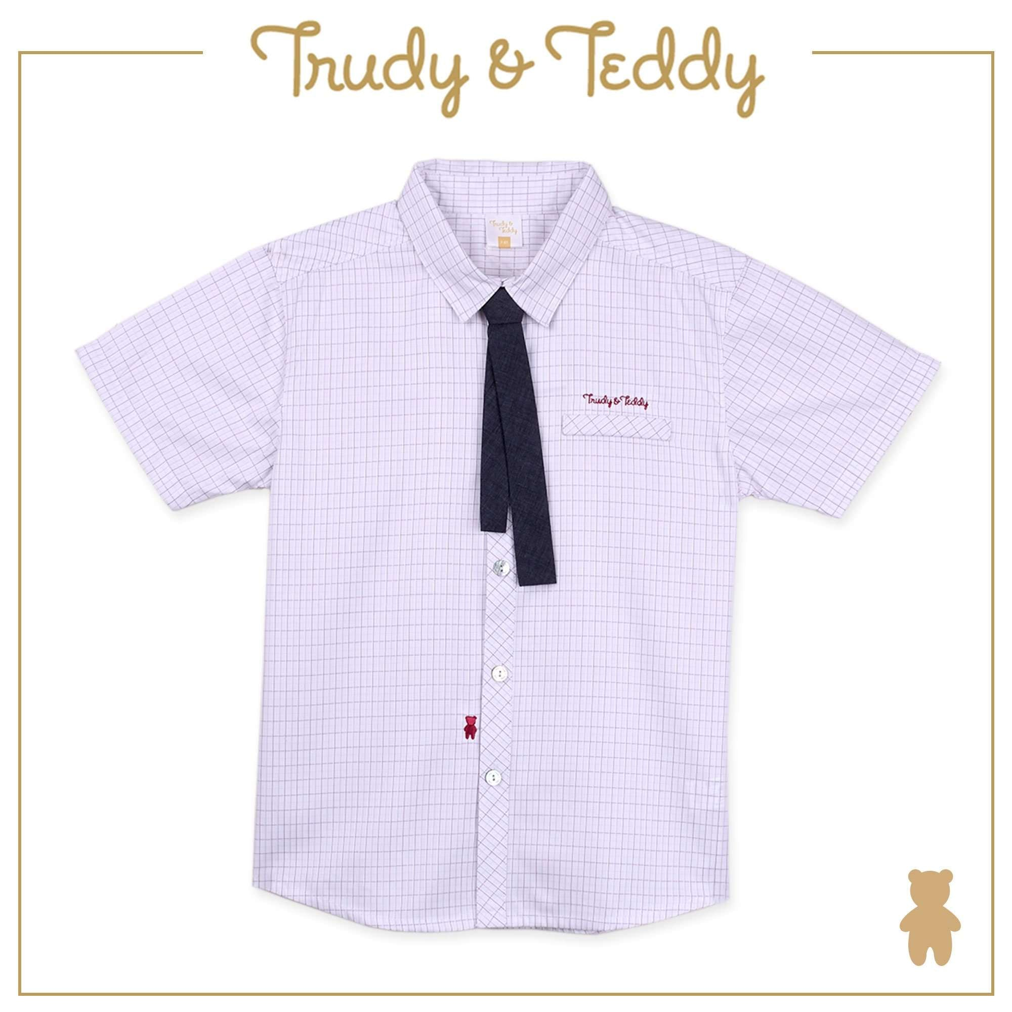 Trudy & Teddy Toddler to Kid Boy Short Sleeve Shirt - Red T922002-1453-R1 : Buy Trudy & Teddy online at CMG.MY