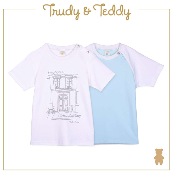 Trudy & Teddy Baby to Kid Boy Short Sleeve Tee 2pcs - Green T922103-1124-N5 : Buy Trudy & Teddy online at CMG.MY