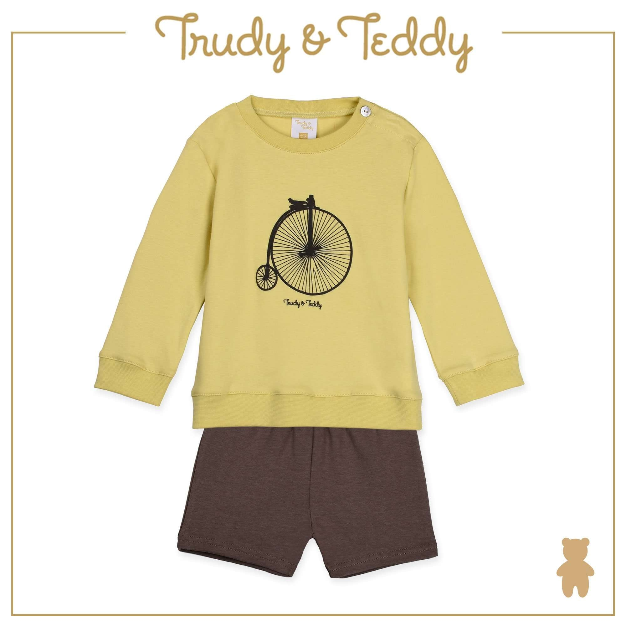 Trudy & Teddy Baby to Kid Boy Long Sleeve Bermuda Suit - Yellow T922103-4316-N5 : Buy Trudy & Teddy online at CMG.MY