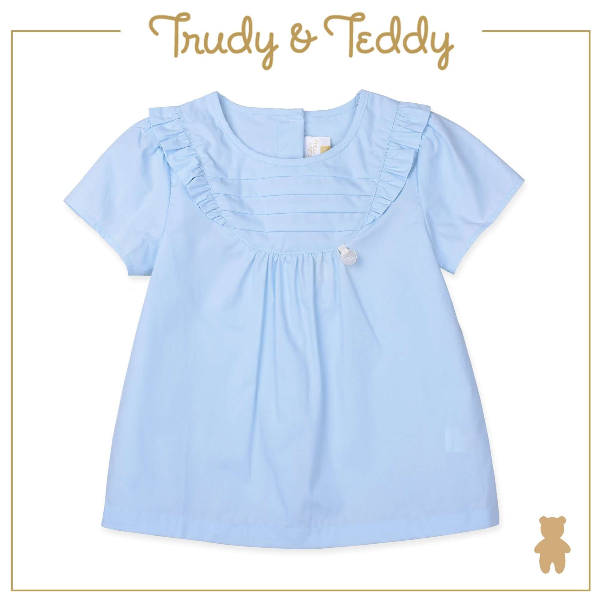Trudy & Teddy Baby to Kid Girl Short Sleeve Blouse - Light Blue T924001-1402-L1 : Buy Trudy & Teddy online at CMG.MY