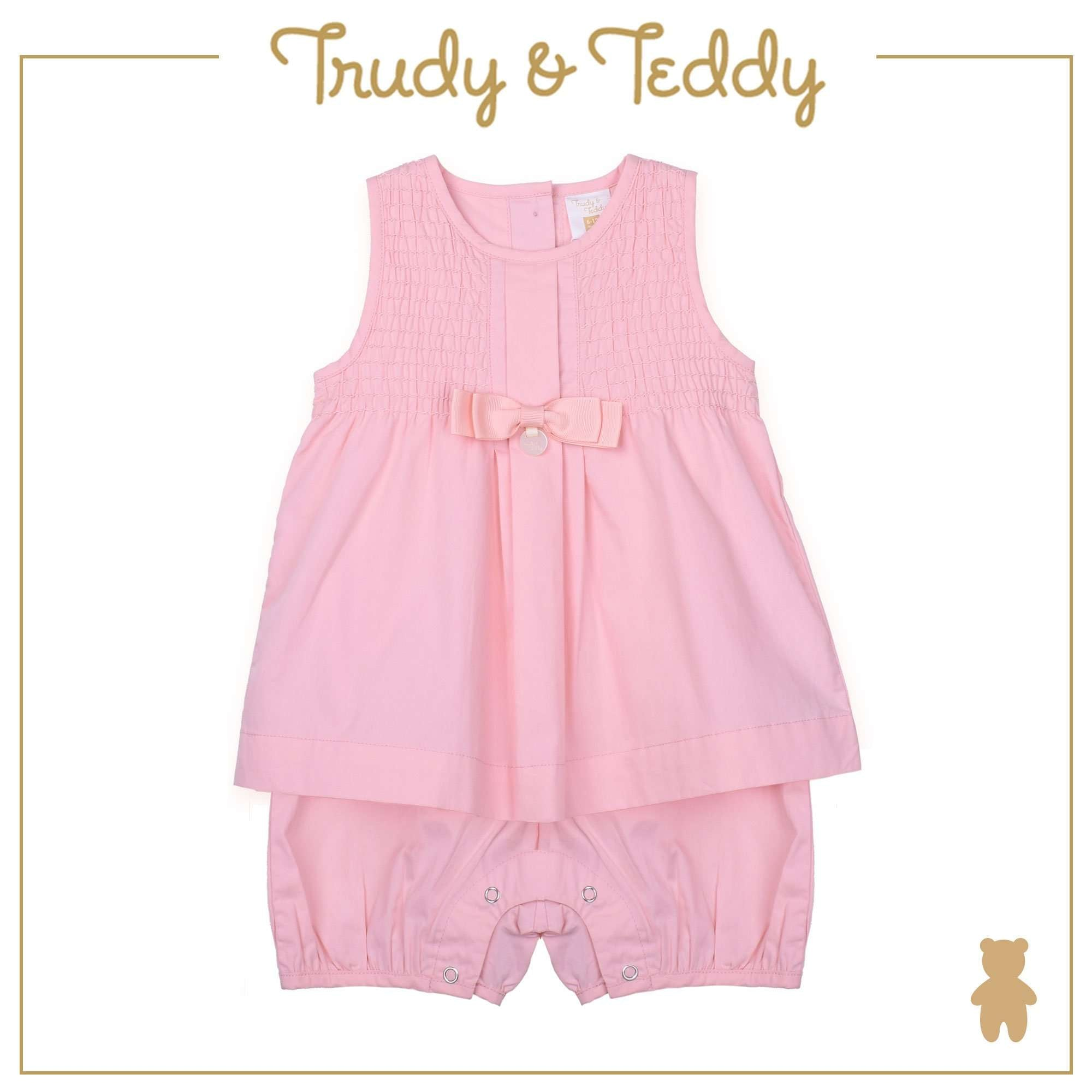 Trudy & Teddy Baby Girl Sleeveless Romper - Light Pink T924002-3555-P1 : Buy Trudy & Teddy online at CMG.MY