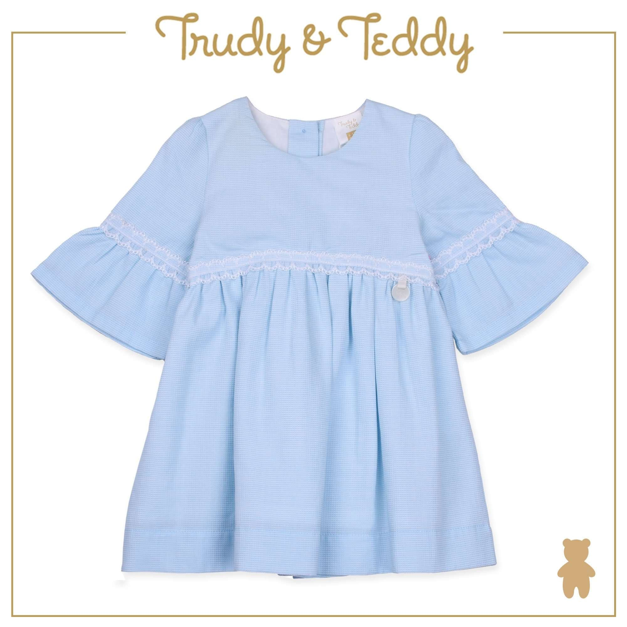 Trudy & Teddy Baby Girl Short Sleeve Dress - Light Blue T924002-3102-L1 : Buy Trudy & Teddy online at CMG.MY