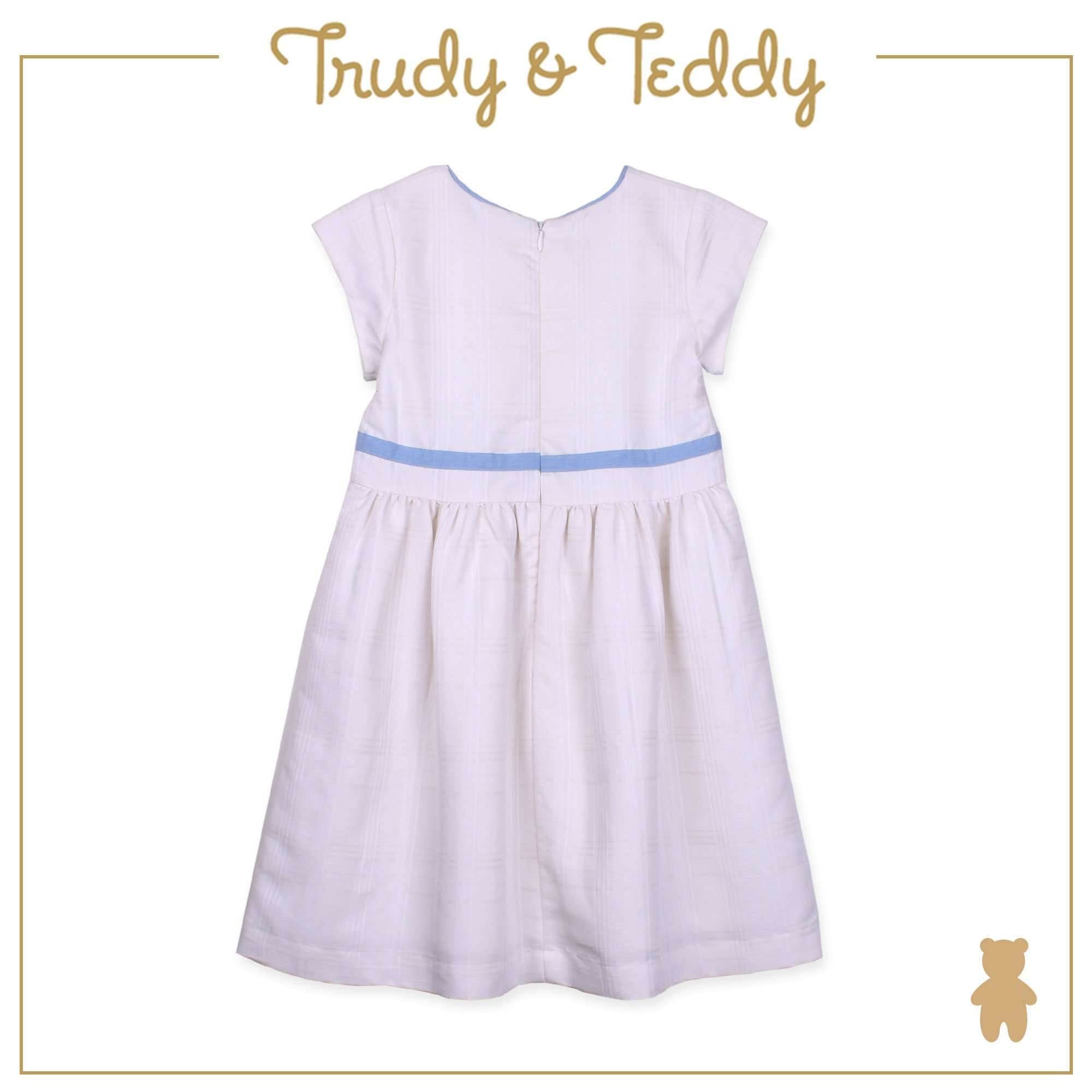 Trudy & Teddy Baby to Kid Girl Short Sleeve Dress - White T925002-3106-W5 : Buy Trudy & Teddy online at CMG.MY