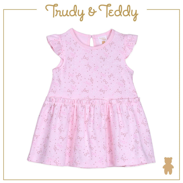 Trudy & Teddy Baby to Kid Girl Short Sleeve Dress With Hairband - Pink T925103-4815-P5 : Buy Trudy & Teddy online at CMG.MY