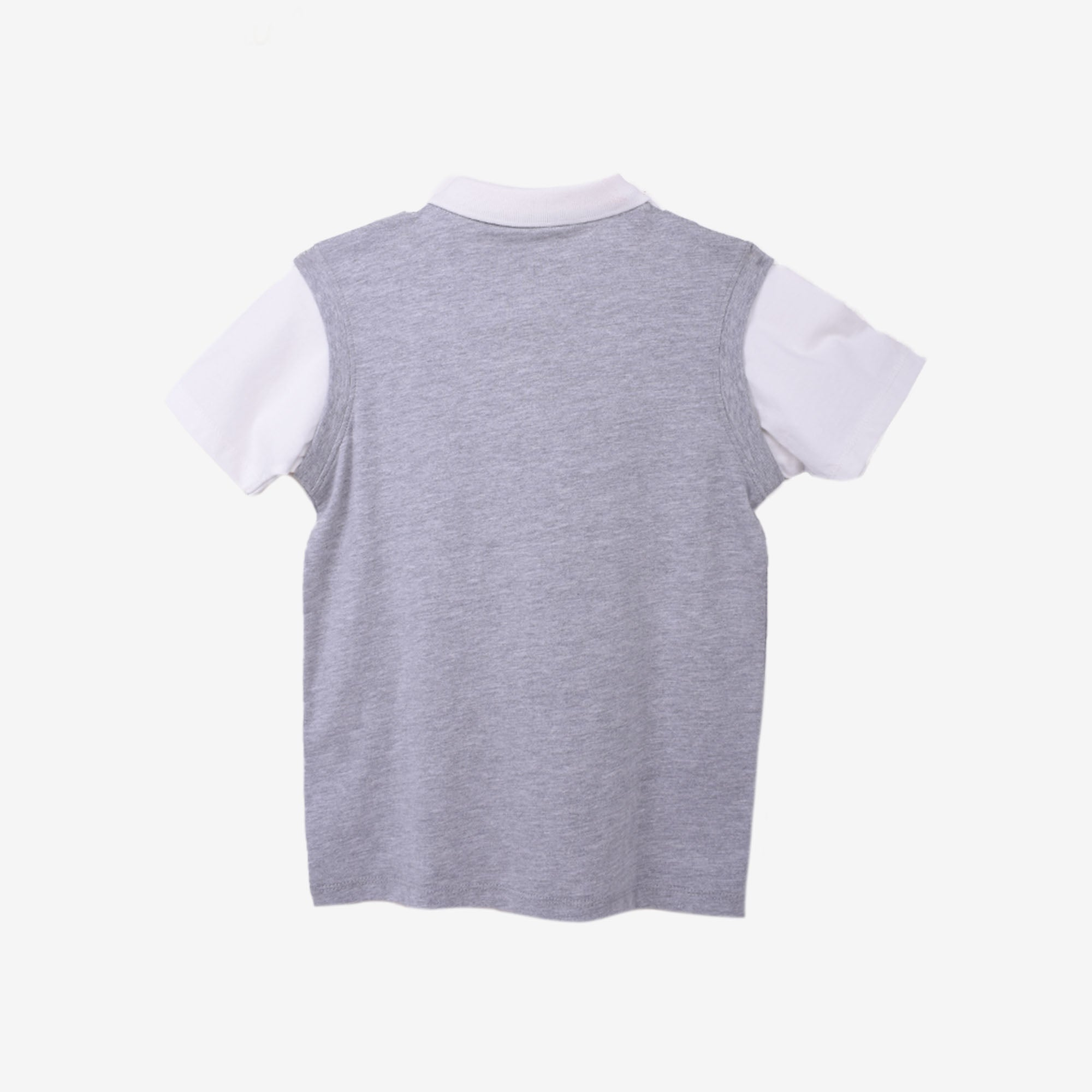 100% Cotton Fake 2 Piece Collar Tee