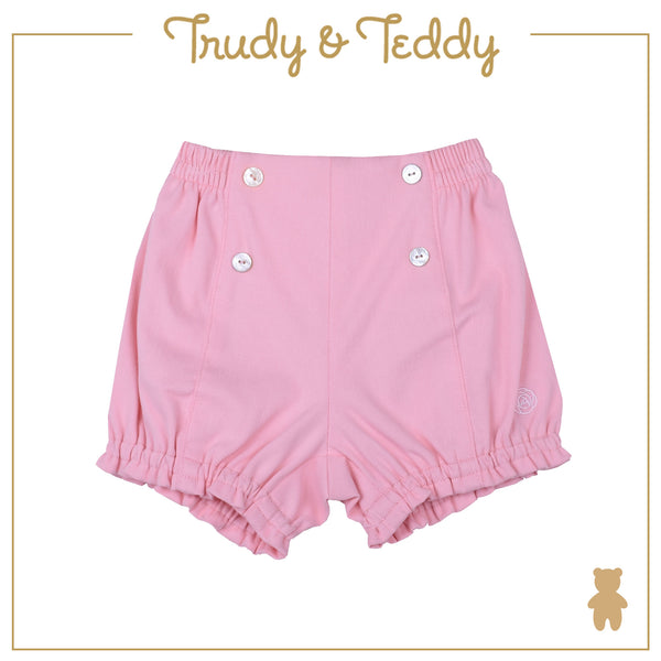 Trudy & Teddy Girl FASHION  Knit Short Pants  - Light Pink T934001-2812-P1