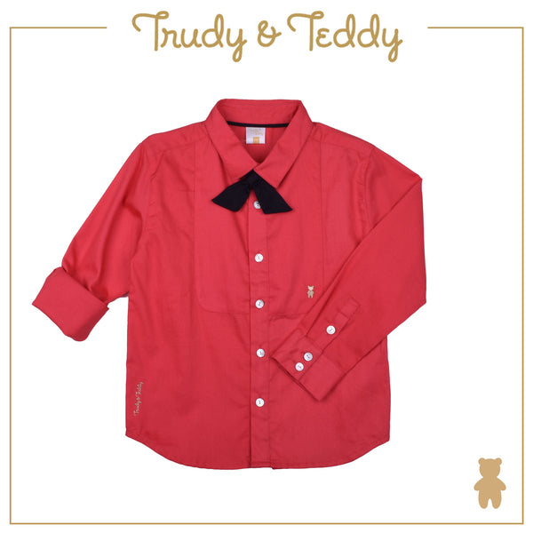 Trudy & Teddy Boy SPECIAL OCCASION Long Sleeve Shirt - Red T942002-1504-R5