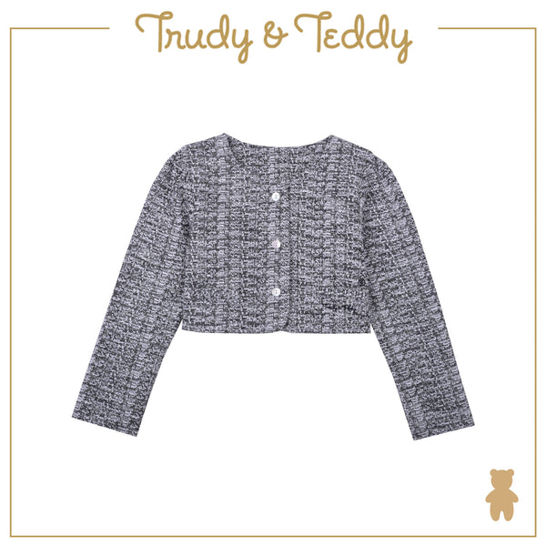Trudy & Teddy Girl FASHION  Cardigan - Light Grey T944001-1634-G1