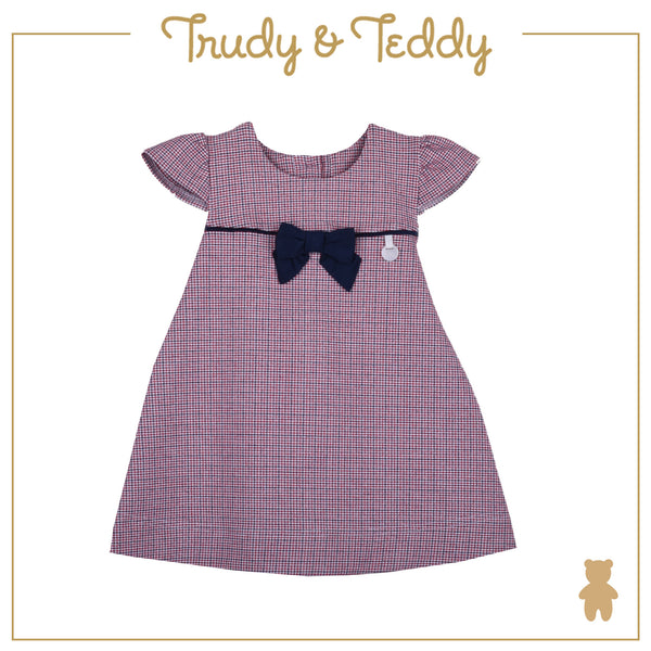 Trudy & Teddy Girl FASHION  Short Sleeve Dress - Red T944001-3139-R5