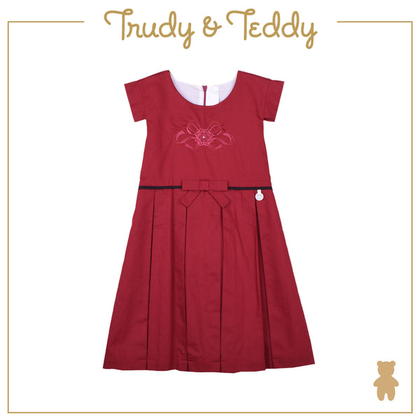 Trudy & Teddy Girl SPECIAL OCCASION Short Sleeve Dress - Red T944002-3108-R5