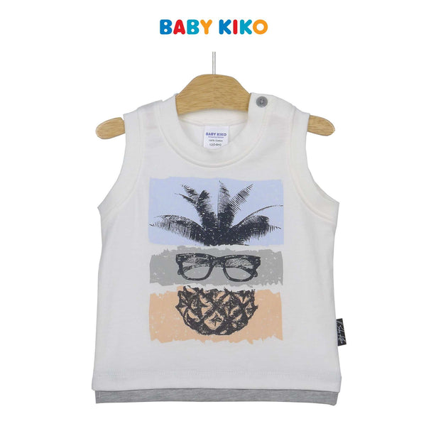 Baby KIKO Baby Boy Sleeveless Tee 330082-101 : Buy Baby KIKO online at CMG.MY