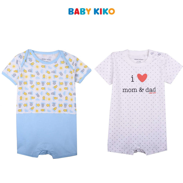 BABY KIKO BABY BOY BASIC KNIT ROMPER - GREY B921103-3601-G5 : Buy Baby KIKO online at CMG.MY
