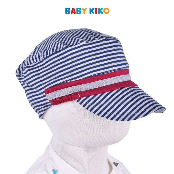 Baby KIKO Baby Boy Cap - Melange Stripe Blue 330063-711 : Buy Baby KIKO online at CMG.MY