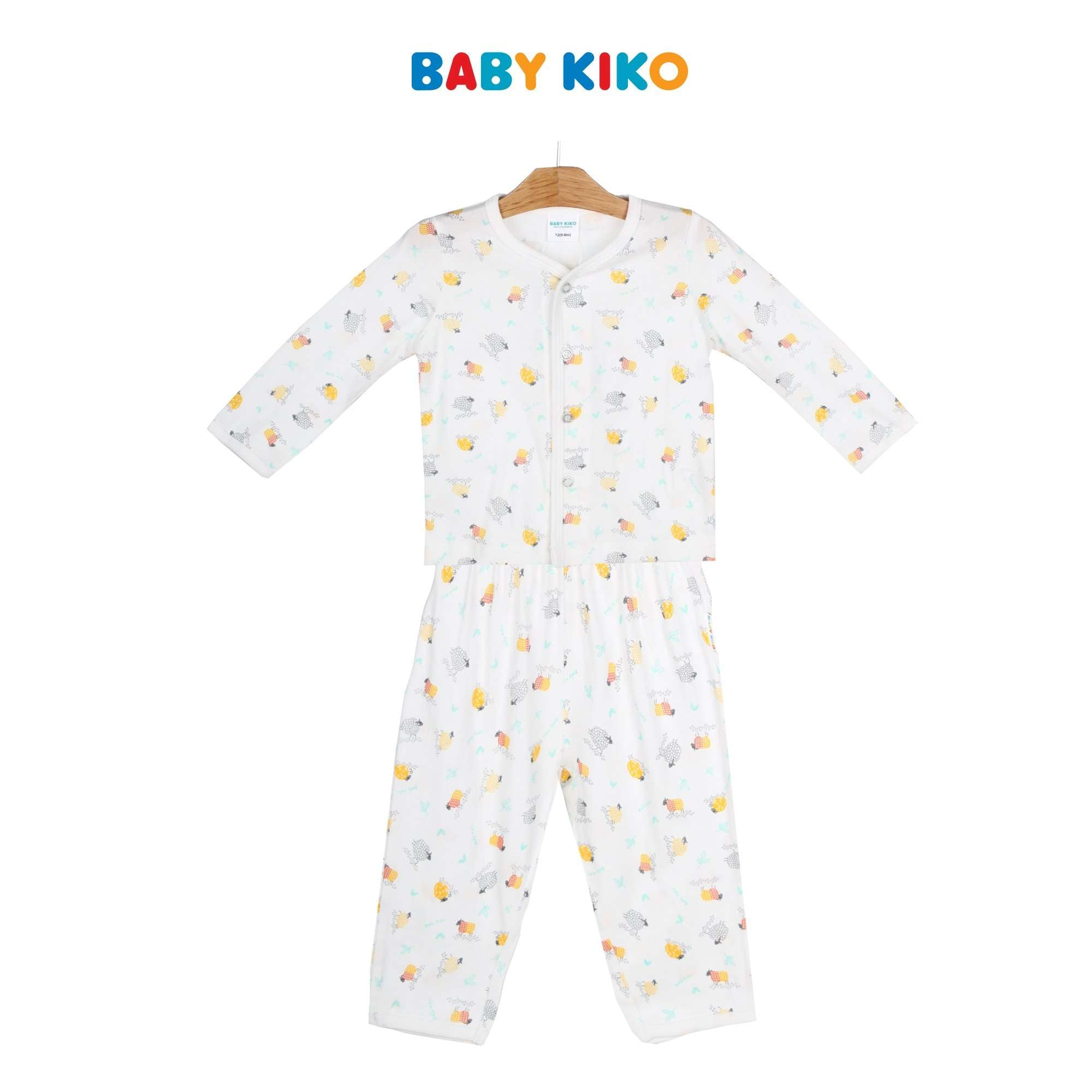 Baby KIKO Baby Boy Long Sleeve Long Pants Suit - White 320133-431 : Buy Baby KIKO online at CMG.MY