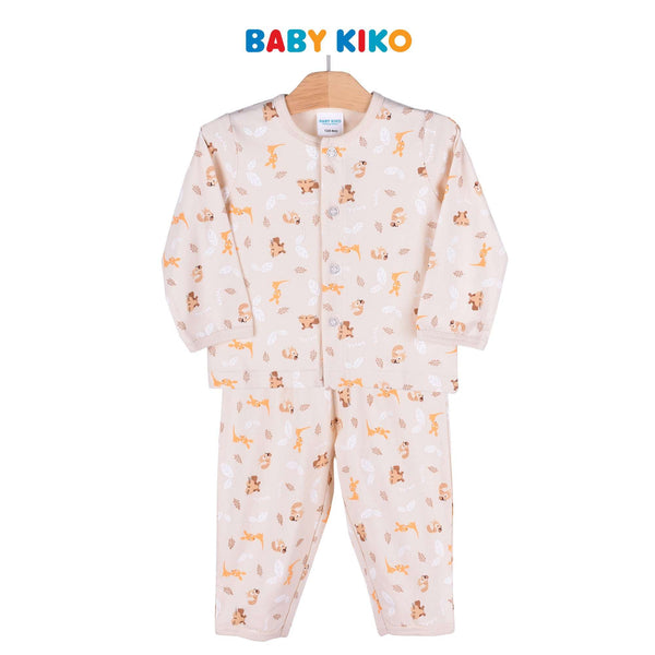 Baby KIKO Baby Boy Long Sleeve Long Pants Suit - Sand 320117-431 : Buy Baby KIKO online at CMG.MY