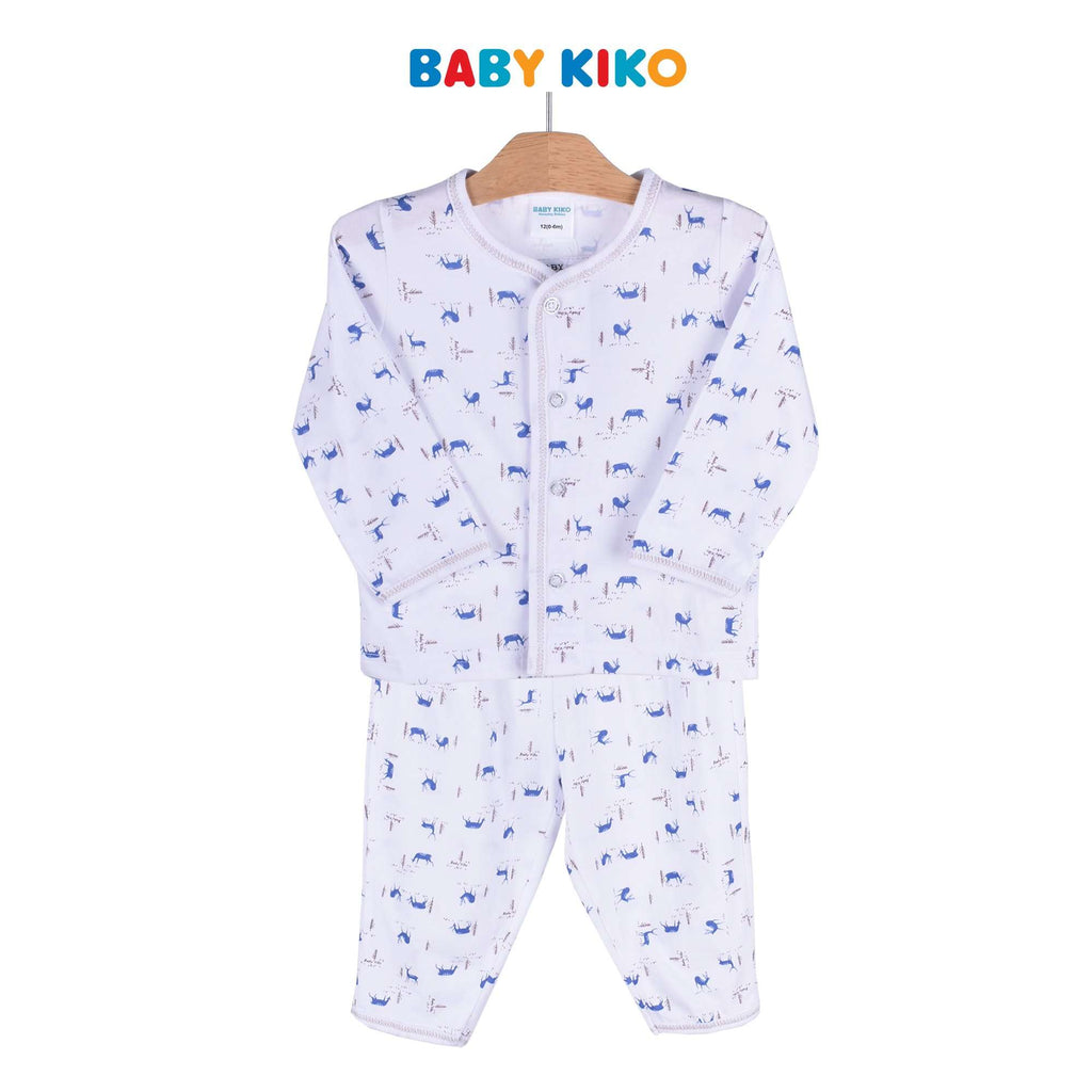 cbb26219fbe5 Baby KIKO Baby Boy Long Sleeve Long Pants Suit - White 320119-431 ...