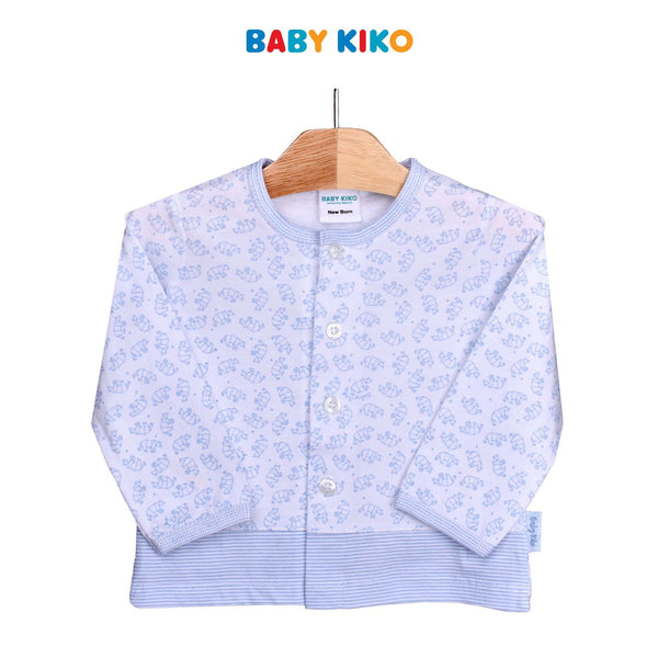 Baby KIKO Baby Boy Long Sleeve Tee-White 310182-131 : Buy Baby KIKO online at CMG.MY