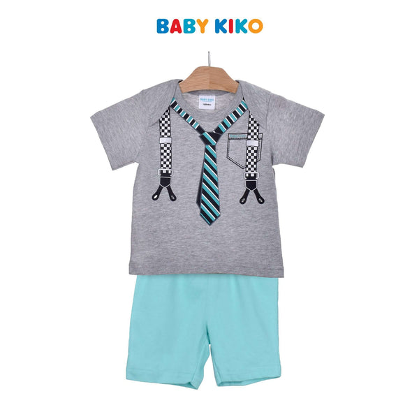 Baby KIKO Baby Boy Short Sleeve Bermuda Pants Suit-Melange 320173-411 : Buy Baby KIKO online at CMG.MY