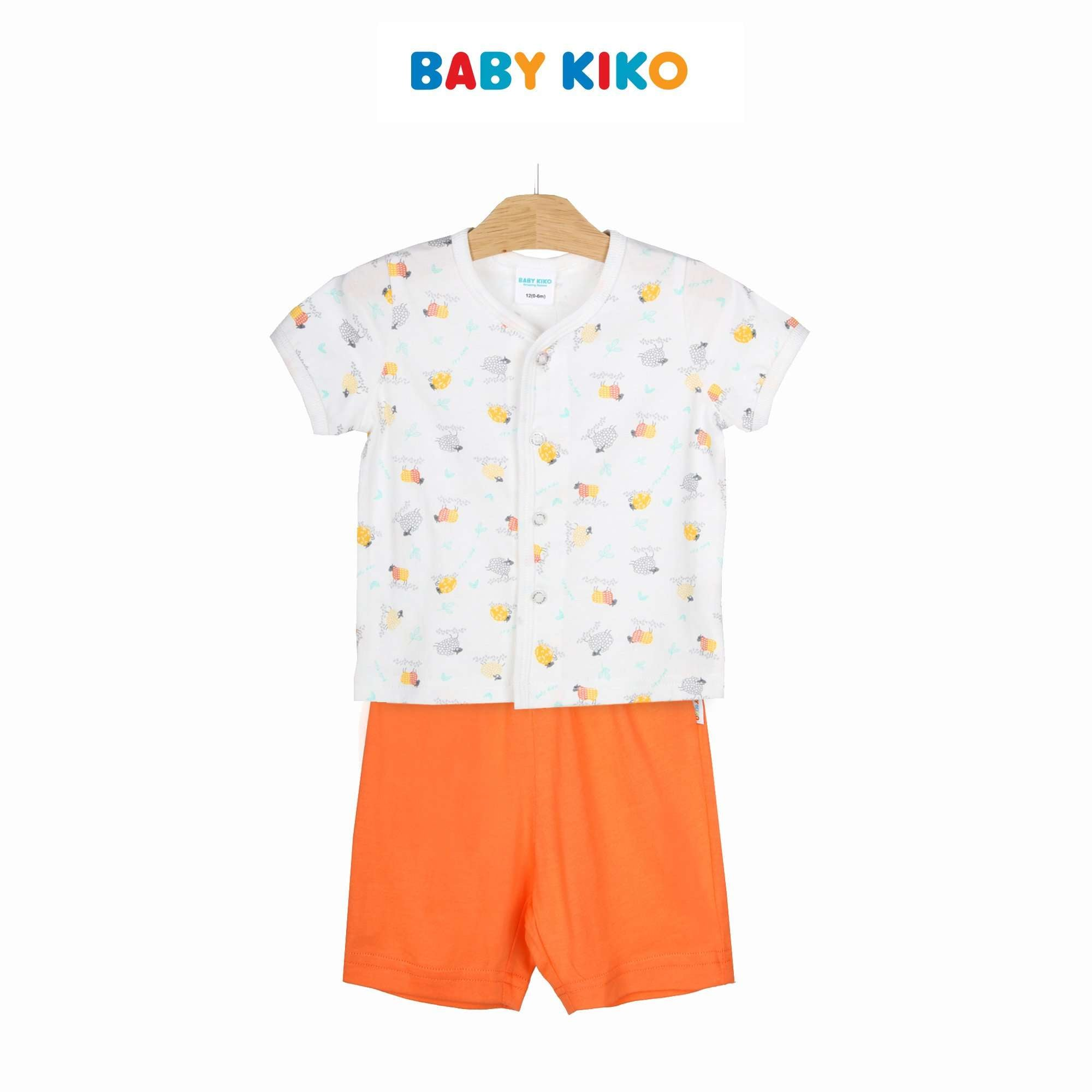 Baby KIKO Baby Boy Short Sleeve Bermuda Suit - Orange 320133-411 : Buy Baby KIKO online at CMG.MY