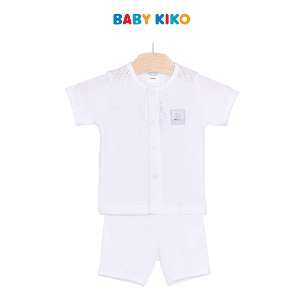 Baby KIKO Baby Boy Short Sleeve Bermuda Suit - White 320157-411 : Buy Baby KIKO online at CMG.MY