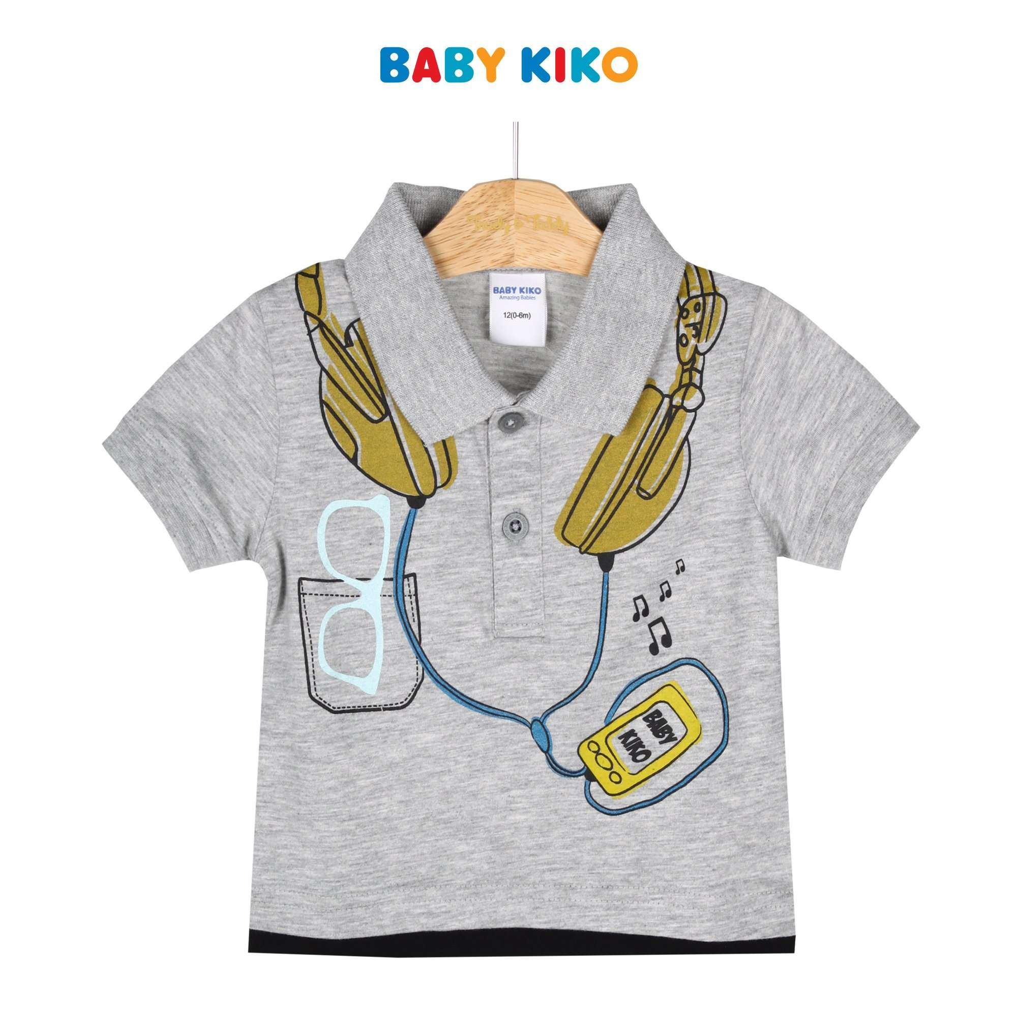 Baby KIKO Baby Boy Short Sleeve Collar Tee 330072-121 : Buy Baby KIKO online at CMG.MY