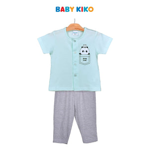 Baby KIKO Baby Boy Short Sleeve Long Pant Suit-Mint 320179-421 : Buy Baby KIKO online at CMG.MY