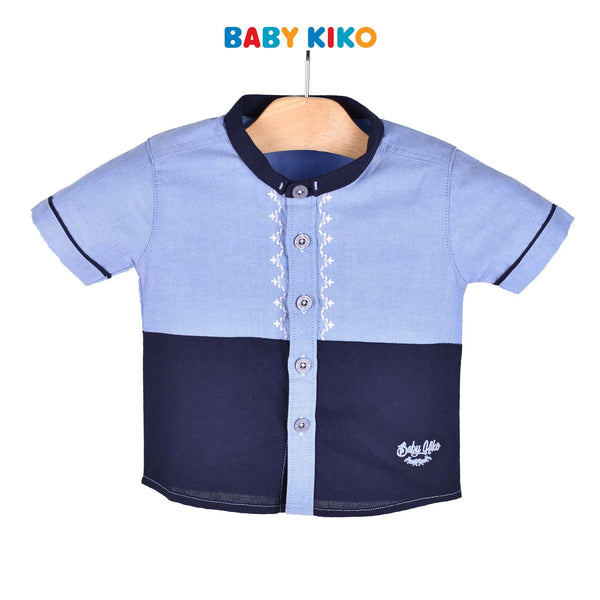 Baby KIKO Baby Boy Short Sleeve Shirt Blue 310110-141 : Buy Baby KIKO online at CMG.MY