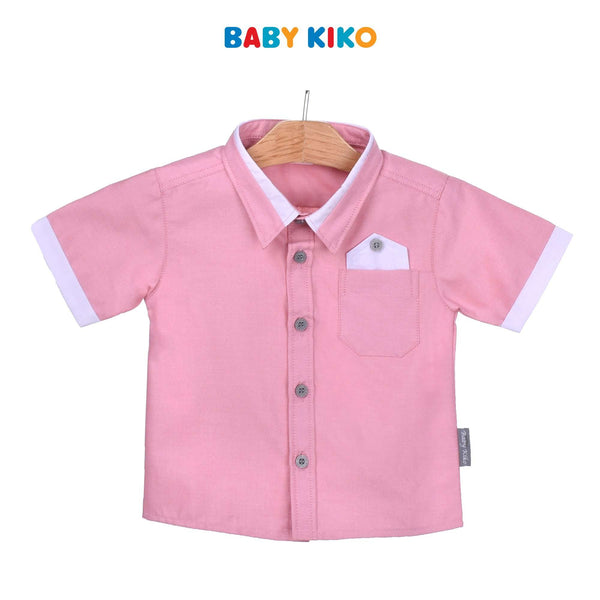Baby KIKO Baby Boy Short Sleeve Shirt-Pink 310174-141 : Buy Baby KIKO online at CMG.MY