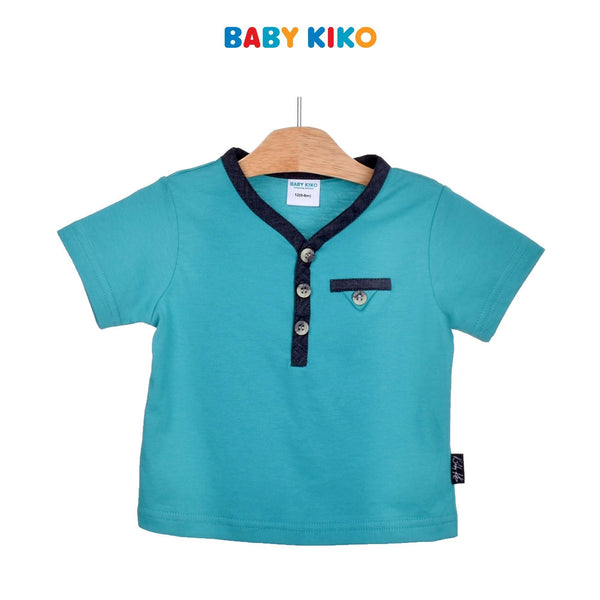 Baby KIKO Baby Boy Short Sleeve Tee-Green 330146-111 : Buy Baby KIKO online at CMG.MY