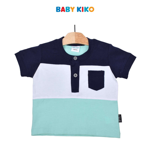 Baby KIKO Baby Boy Short Sleeve Tee-Navy/White/Green 330145-112 : Buy Baby KIKO online at CMG.MY