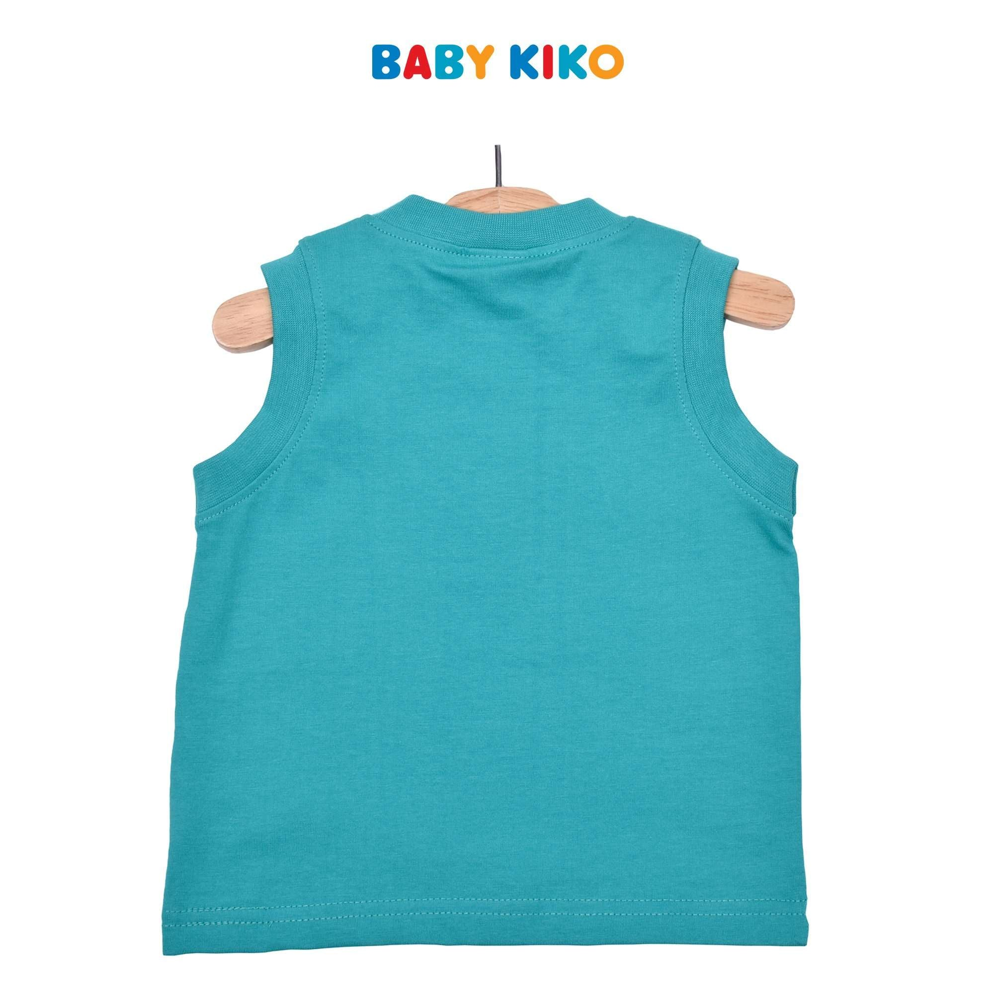 Baby KIKO Baby Boy Sleeveless Tee- Green 330145-101 : Buy Baby KIKO online at CMG.MY