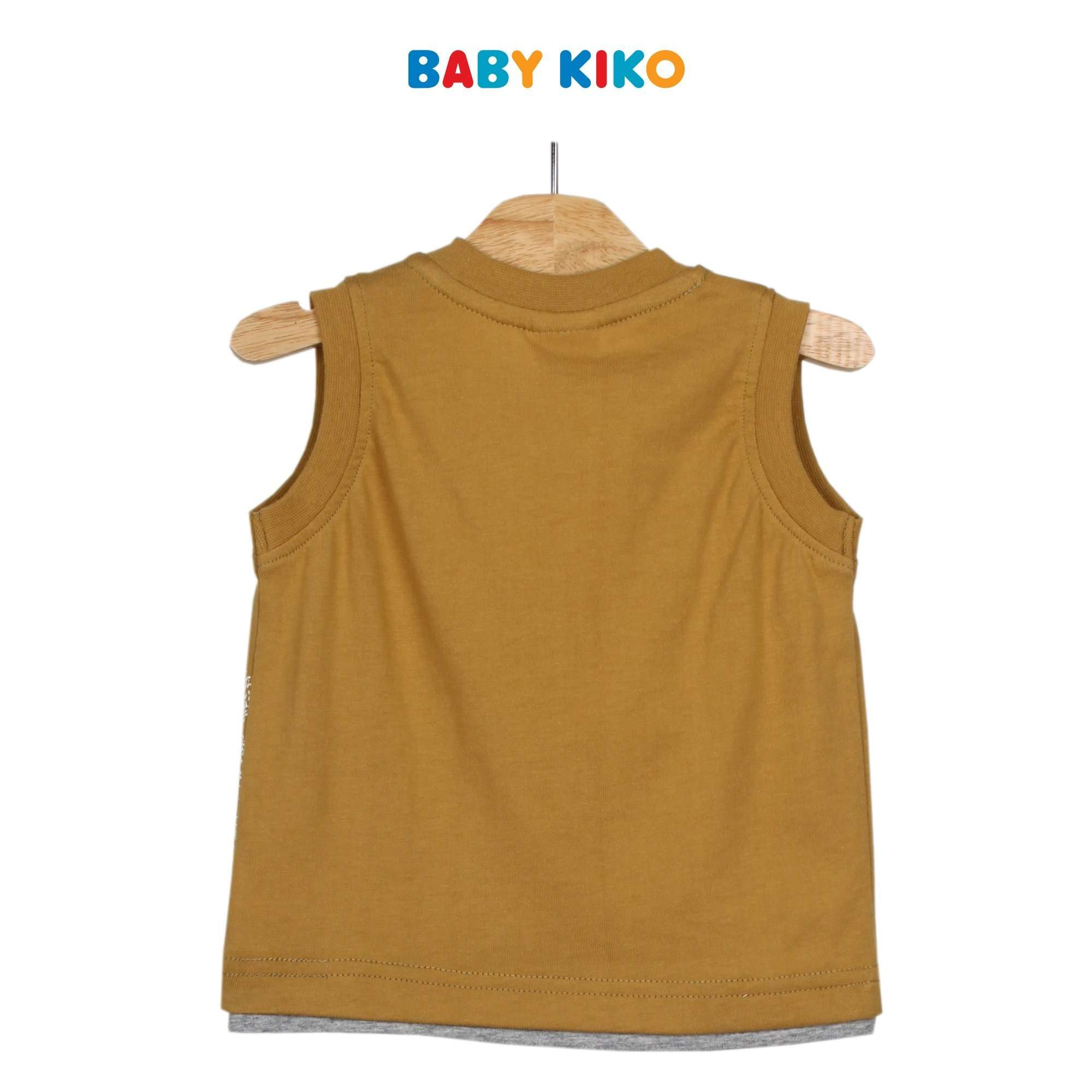 Baby KIKO Baby Boy Sleeveless Tee 330066-101 : Buy Baby KIKO online at CMG.MY