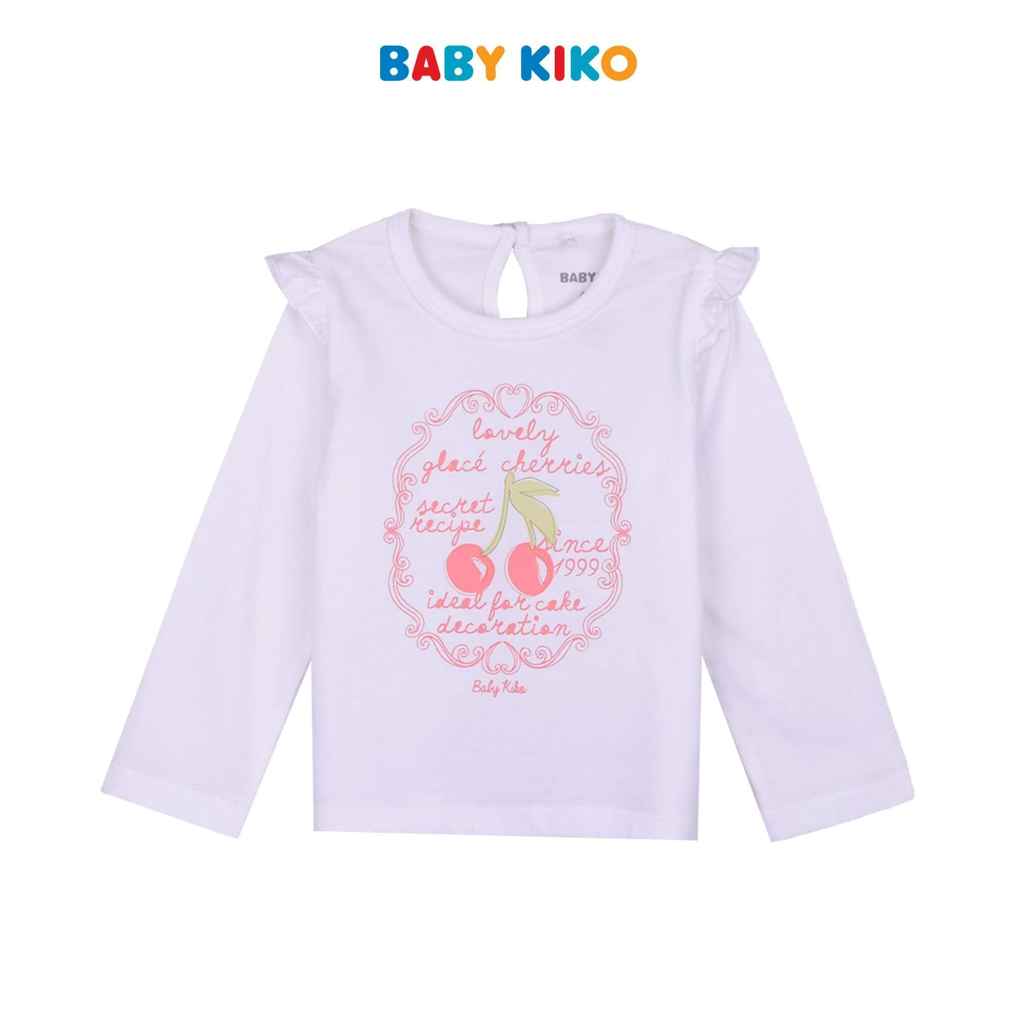 BABY KIKO BABY GIRL BASIC LONG SLEEVE LONG PANTS SUIT - CREAM B924103-4313-W5 : Buy Baby KIKO online at CMG.MY