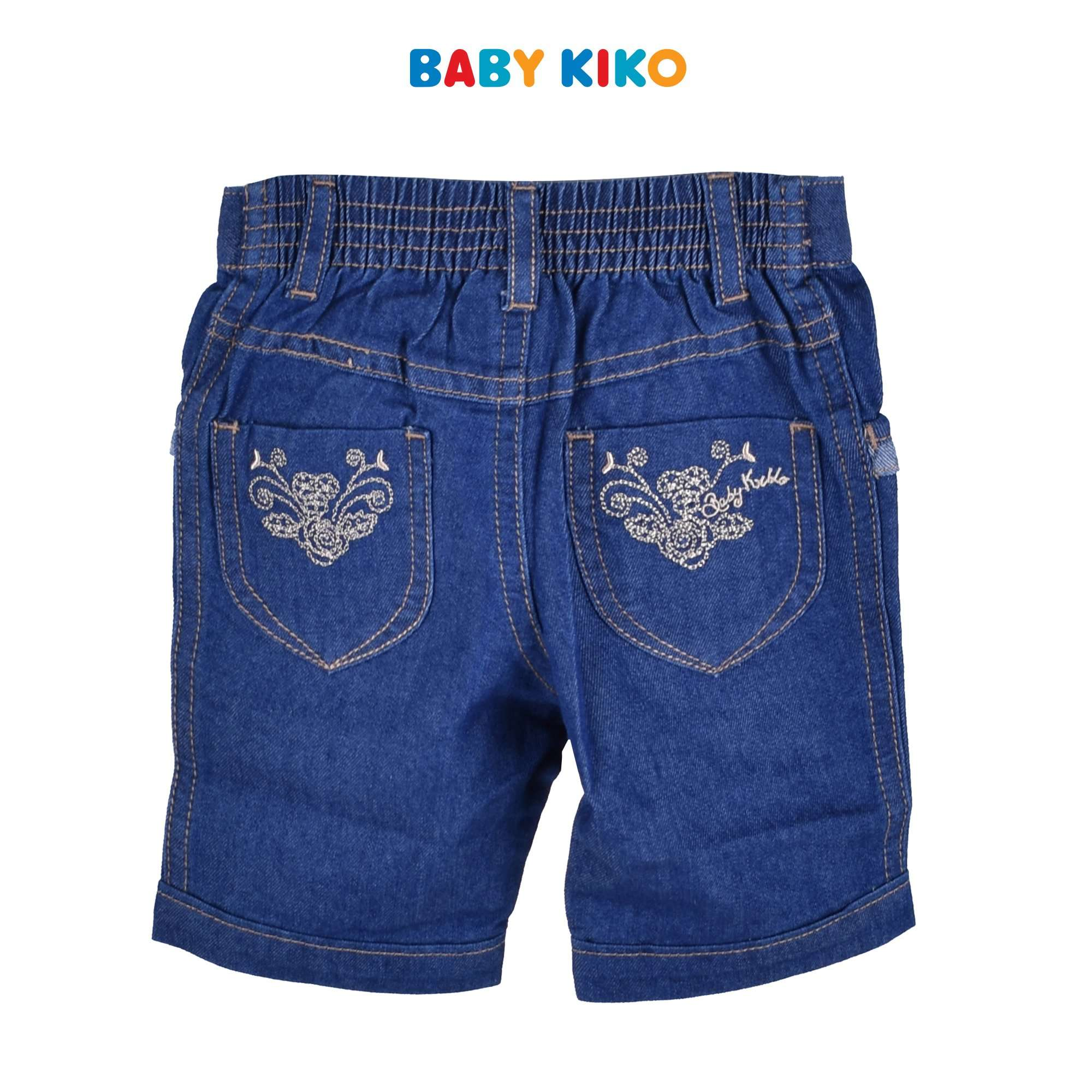 Baby KIKO Baby Girl Denim Bermuda Denim Blue Infant 330058-201 : Buy Baby KIKO online at CMG.MY