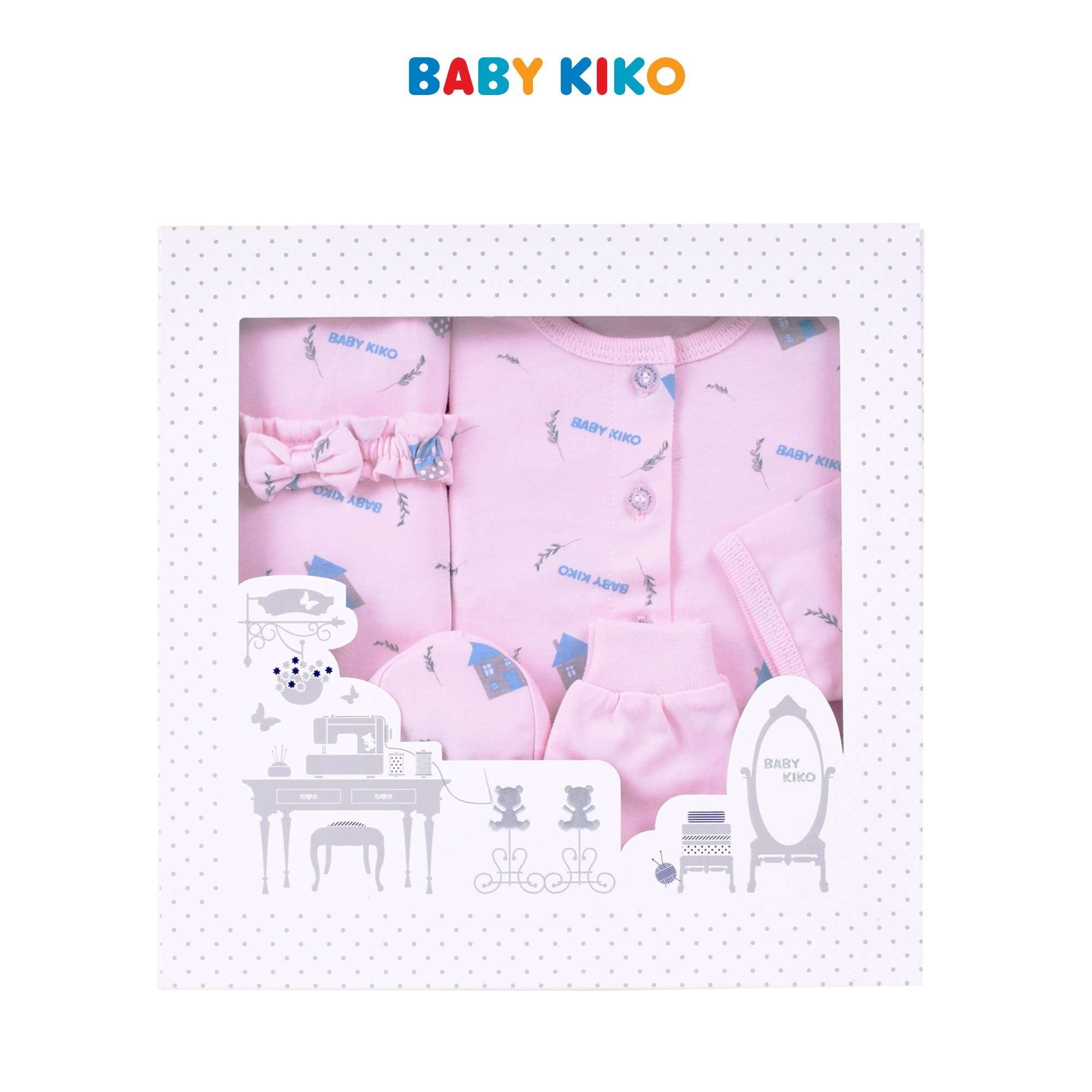 Baby KIKO Baby Girl Gift Set New Born - Light Pink B924106-6040-P1 : Buy Baby KIKO online at CMG.MY