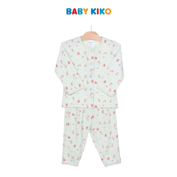 Baby KIKO Baby Girl Long Sleeve Long Pants Suit - Light Green 320141-431 : Buy Baby KIKO online at CMG.MY