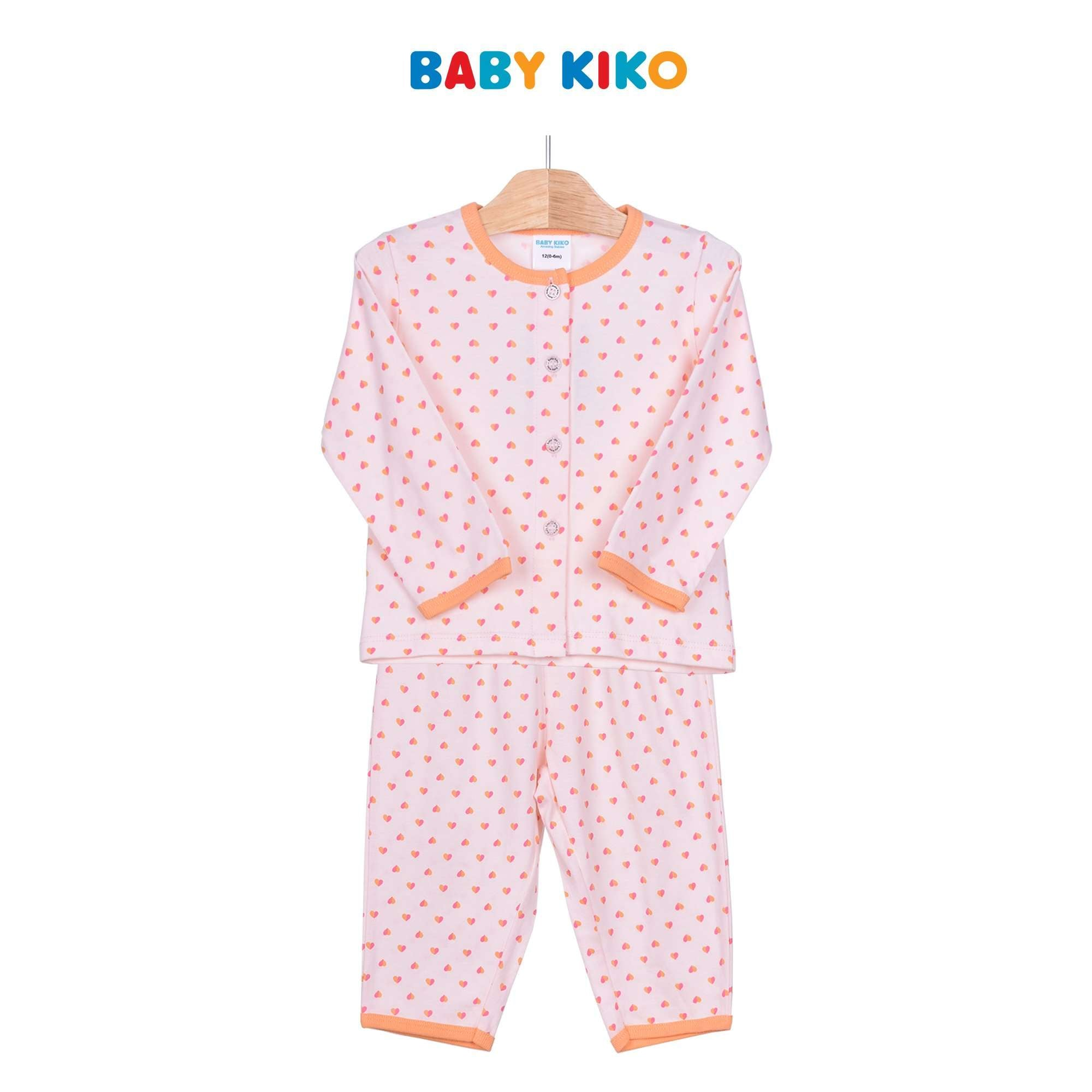 Baby KIKO Baby Girl Long Sleeve Long Pants Suit - Light Orange 320152-431 : Buy Baby KIKO online at CMG.MY
