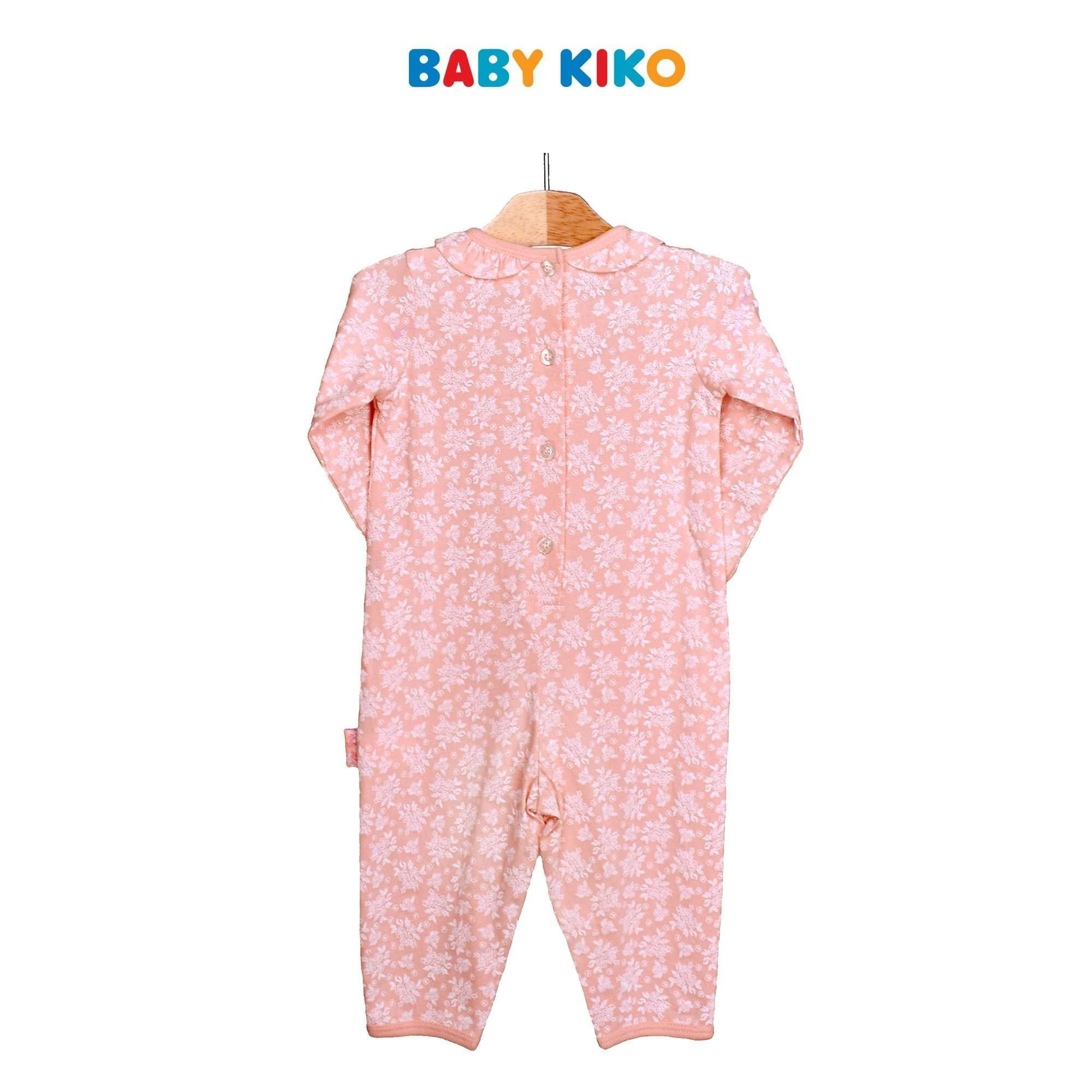 Baby KIKO Baby Girl Long Sleeve Romper-Floral Pink 310177-361 : Buy Baby KIKO online at CMG.MY
