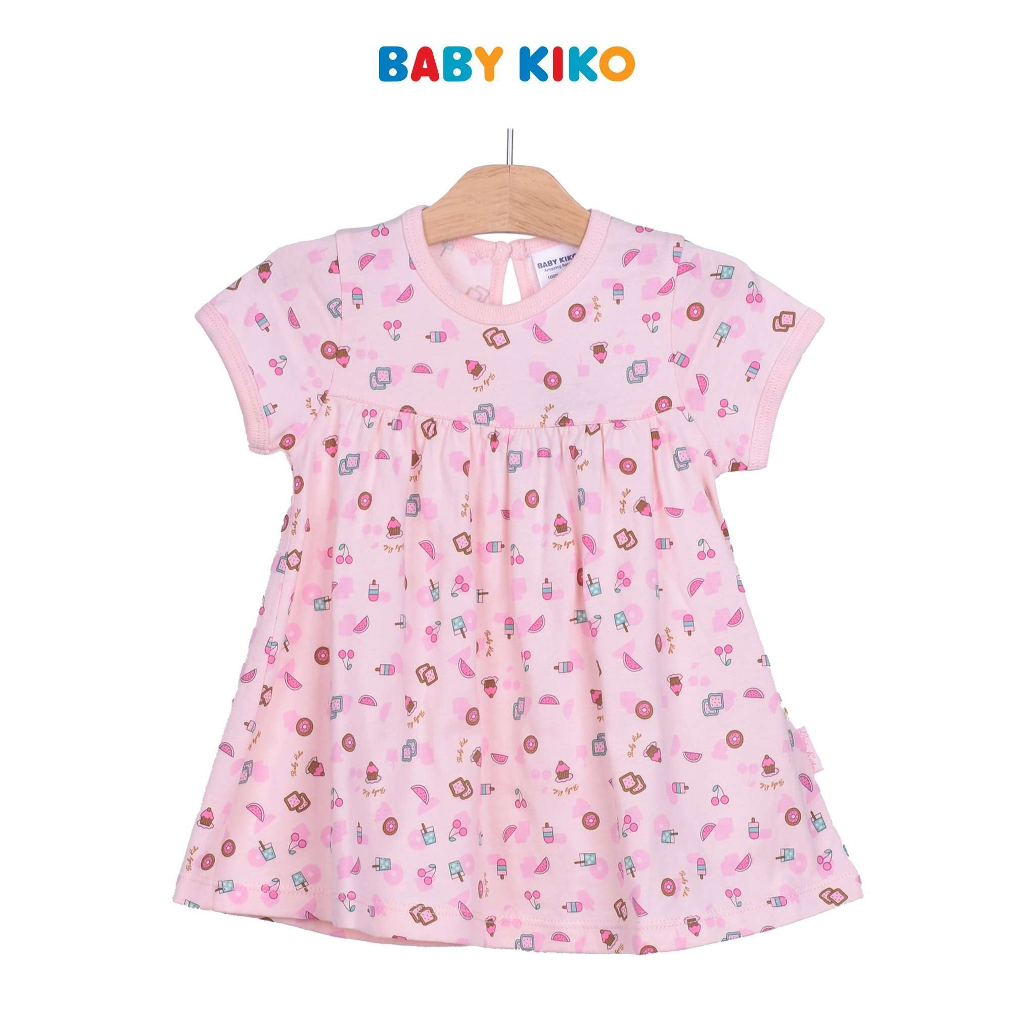 Baby KIKO Baby Girl Short Sleeve Dress - Pink 320149-331 : Buy Baby KIKO online at CMG.MY