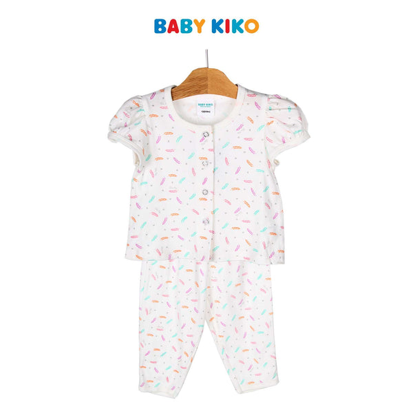 Baby KIKO Baby Girl Short Sleeve Long Pants Suit 320154-421 : Buy Baby KIKO online at CMG.MY