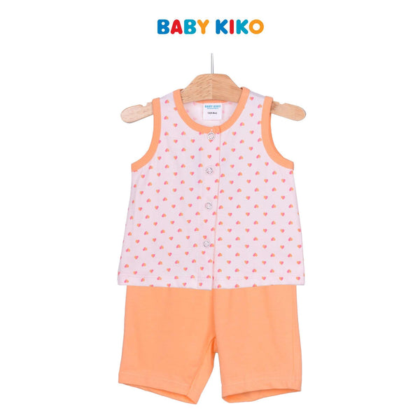 Baby KIKO Baby Girl Sleeveless Bermuda Suit - Orange 320152-401 : Buy Baby KIKO online at CMG.MY