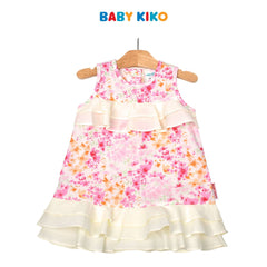 Baby KIKO Baby Girl Sleeveless Dress- Floral Print 310205-311 : Buy Baby KIKO online at CMG.MY