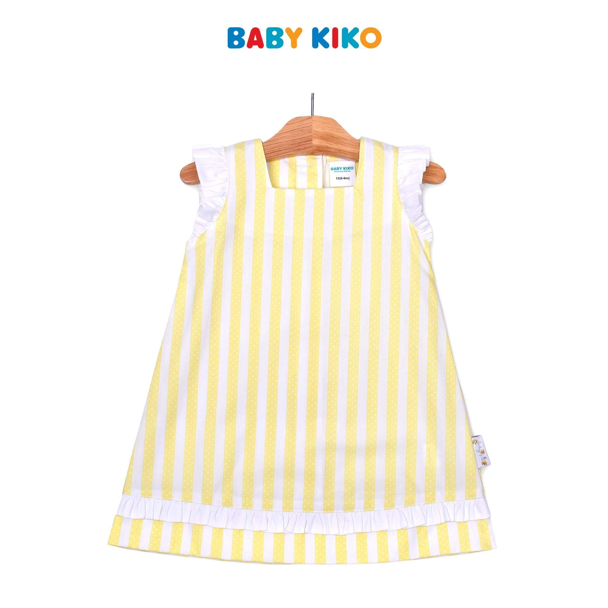 Baby KIKO Baby Girl Sleeveless Dress- Lemonade Stripe 310213-314 : Buy Baby KIKO online at CMG.MY
