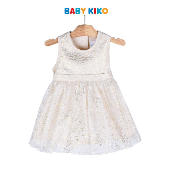 Baby KIKO Baby Girl Sleeveless Dress Jaquard Woven - Gold 310154-311 : Buy Baby KIKO online at CMG.MY