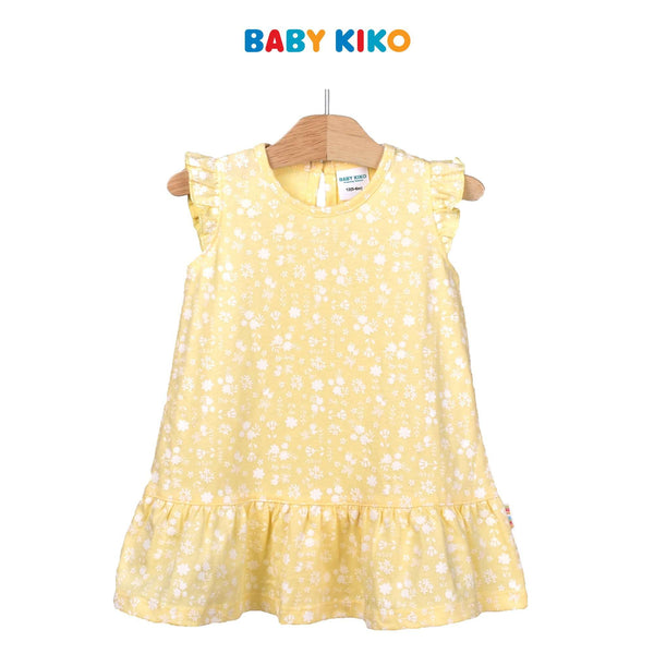 Baby KIKO Baby Girl Sleeveless Dress-Yellow 320194-331 : Buy Baby KIKO online at CMG.MY