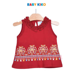 Baby KIKO Baby Girl Sleeveless Tee - Red 330081-101 : Buy Baby KIKO online at CMG.MY